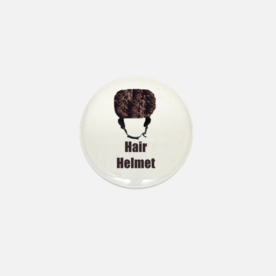 Hair Helmet Mini Button