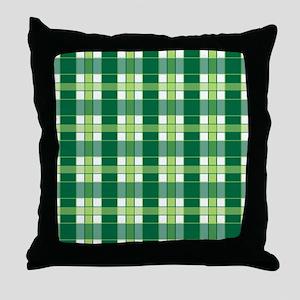 EMERALD PLAID Throw Pillow
