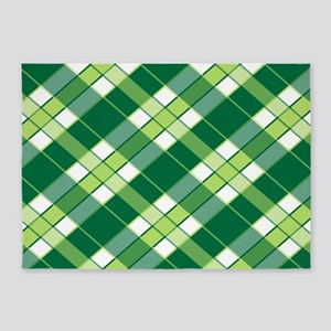 EMERALD PLAID 5'x7'Area Rug