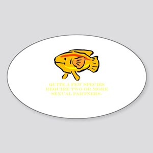 Some Species Require 2 or Mor Oval Sticker