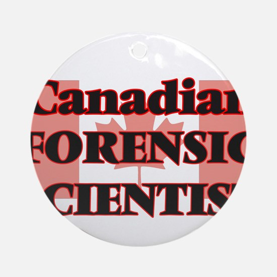 Canadian Forensic Scientist Round Ornament