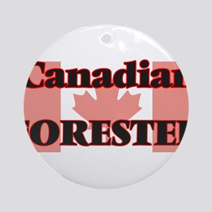 Canadian Forester Round Ornament