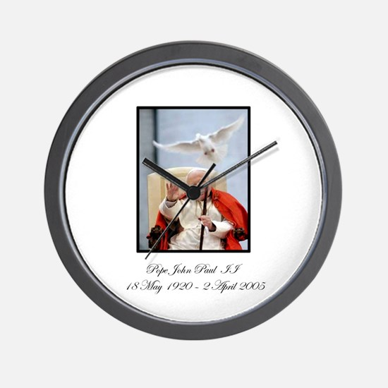 Pope John Paul II with Dove Wall Clock