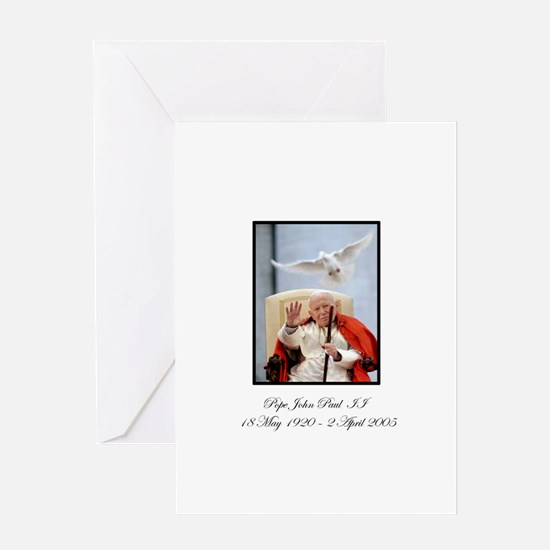 Pope John Paul II with Dove Greeting Card