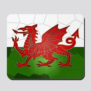 Welsh Flag In Mosaic Design, Mousepad