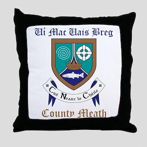 Ui Mac Uais Breg - County Meath Throw Pillow