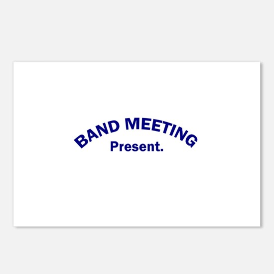 Band Meeting . . . Present Postcards (Package of 8