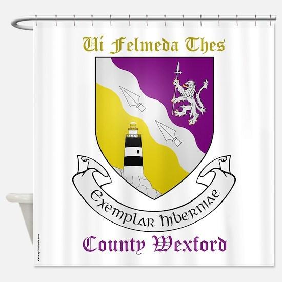 Ui Felmeda Thes - County Wexford Shower Curtain