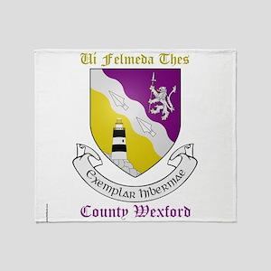 Ui Felmeda Thes - County Wexford Throw Blanket