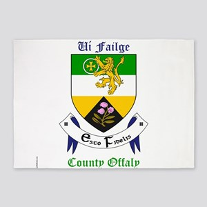 Ui Failge - County Offaly 5'x7'Area Rug