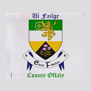 Ui Failge - County Offaly Throw Blanket