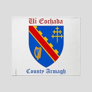 Ui Eochada - County Armagh Throw Blanket