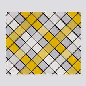 CAUTION PLAID Throw Blanket