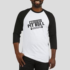 Worlds Best Pit Bull Grandpa Baseball Jersey