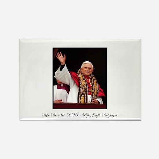 Pope Benedict XVI - Joseph Ra Rectangle Magnet