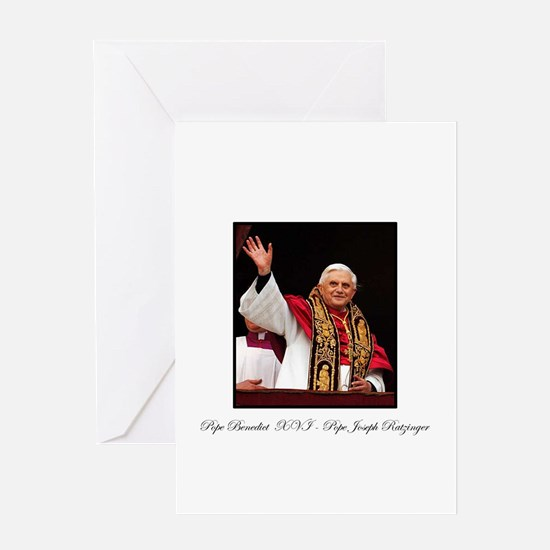 Pope Benedict XVI - Joseph Ra Greeting Card
