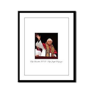 Pope Benedict XVI - Joseph Ra Framed Panel Print