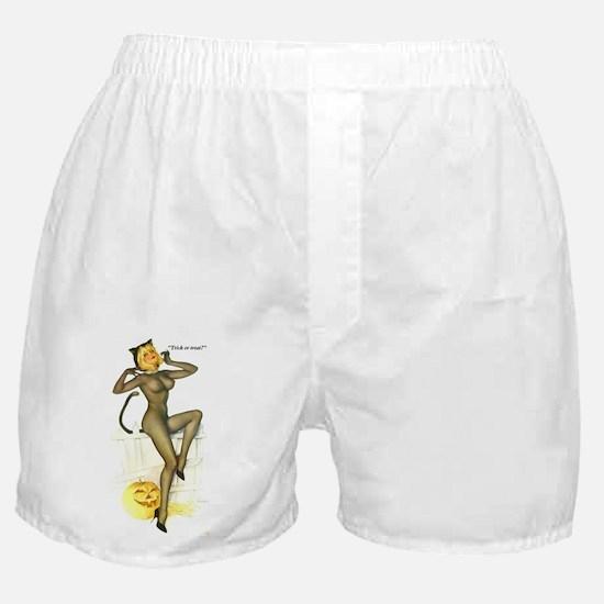 Halloween Vargas Sexy Cat Pin-Up Boxer Shorts
