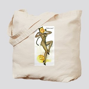 Halloween Vargas Sexy Cat Pin-Up Tote Bag