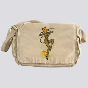 Halloween Vargas Sexy Cat Pin-Up Messenger Bag
