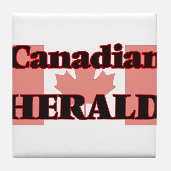 Canadian Herald Tile Coaster