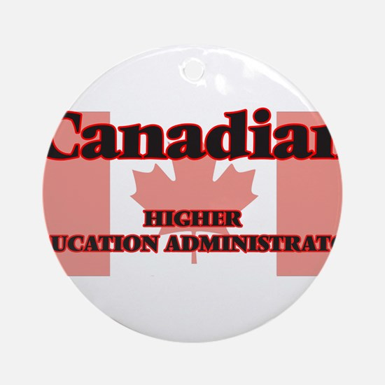 Canadian Higher Education Administr Round Ornament