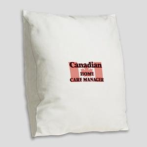 Canadian Home Care Manager Burlap Throw Pillow