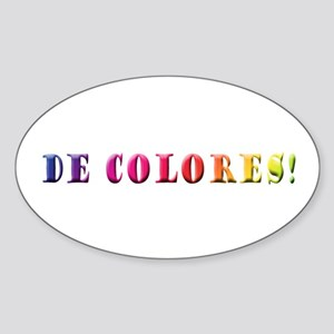 DeColores! Oval Sticker