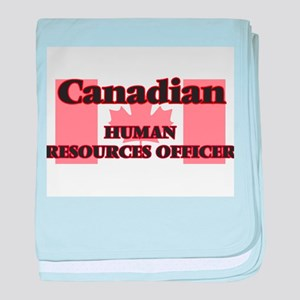 Canadian Human Resources Officer baby blanket