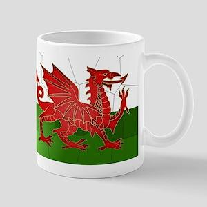Welsh Flag Mosaic, Design, Mug Mugs