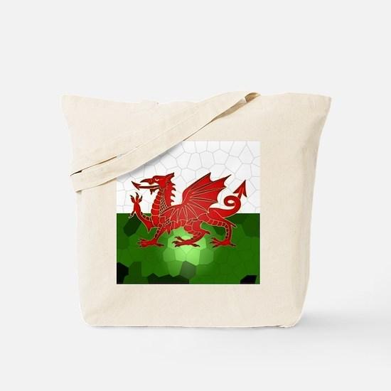 Welsh Flag Mosaic, Design, Tote Bag