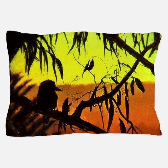 Sunset Kookaburra Silhouette Pillow Case