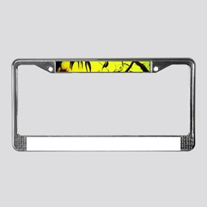 Sunset Kookaburra Silhouette License Plate Frame