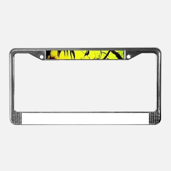 Sunset Kookaburra Silhouette License Plate Frame