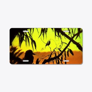 Sunset Kookaburra Silhouett Aluminum License Plate