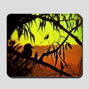 Sunset Kookaburra Silhouette Mousepad