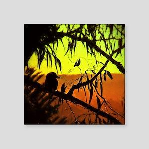 Sunset Kookaburra Silhouette Sticker