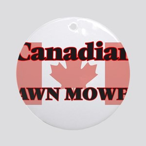 Canadian Lawn Mower Round Ornament