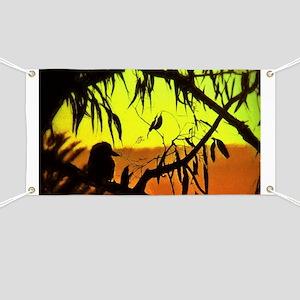 Sunset Kookaburra Silhouette Banner