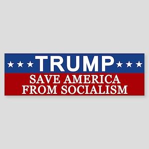 Save America From Socialism Bumper Sticker