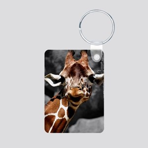 Giraffe Aluminum Photo Keychain Keychains