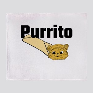 Purrito Throw Blanket