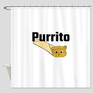 Purrito Shower Curtain