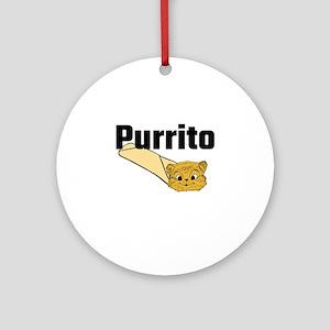 Purrito Round Ornament