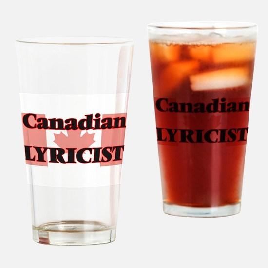 Canadian Lyricist Drinking Glass