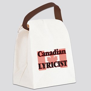 Canadian Lyricist Canvas Lunch Bag