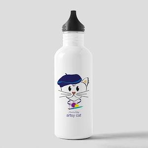 Artsy Cat Water Bottle