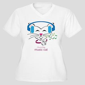 Music Cat Plus Size T-Shirt