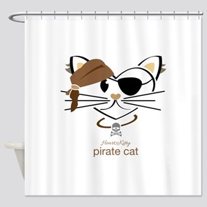 Pirate Cat Shower Curtain
