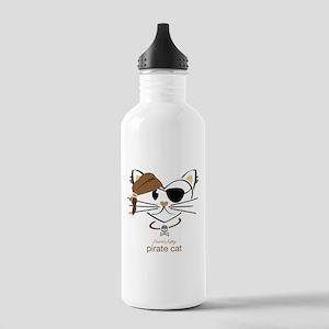 Pirate Cat Water Bottle